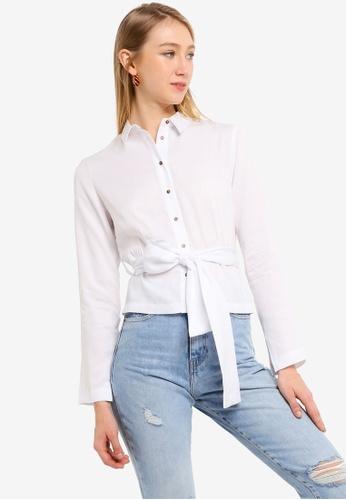 Scotch & Soda white Belted Shirt A0ECFAA654D23BGS_1