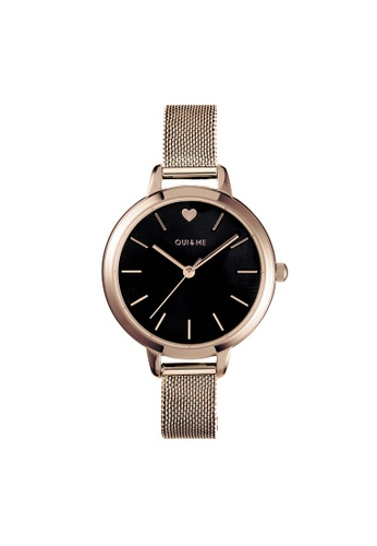 Oui & Me gold Petite Amourette Quartz Watch Rose Gold Metal Band Strap ME010002 043DAAC49E3BB2GS_1