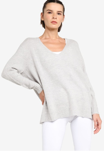 Lorna Jane grey Namaste Long Sleeve Knit Pullover E3BDCAA80B3D90GS_1