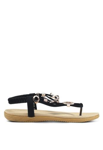 Mimosa black Charm Sandals 7EF13SHBC2BBF3GS_1