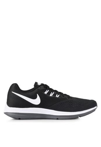 Nike black Men's Nike Air Zoom Winflo 4 Running Shoes NI126SH0SHGPMY_1