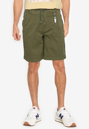 Springfield green Beach Bermuda Shorts With Key Ring 24A86AA389750EGS_1