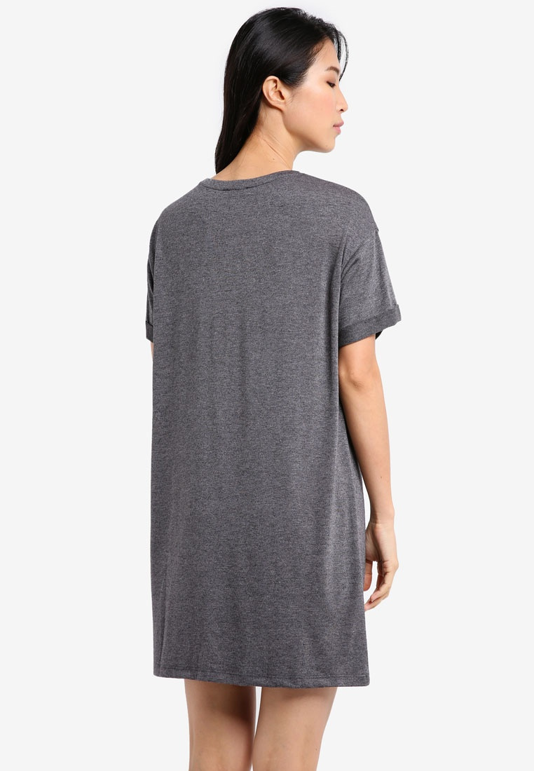ZALORA 2 Dark Black T Shirt Pack Dress BASICS Essential Grey Marl ZqrqXwB