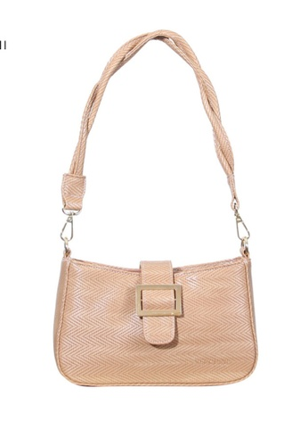 Verchini beige Verchini Twist Top Handle Bag 22FCBACDB1FCAEGS_1