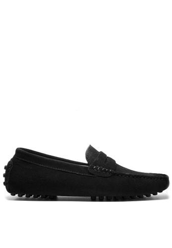 Twenty Eight Shoes 黑色 真牛猄皮休閒帆船鞋MC024 8455BSH0B28DCBGS_1