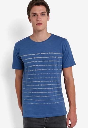 MANGO Man blue Printed Cotton T-Shirt MA449AA96HMPMY_1