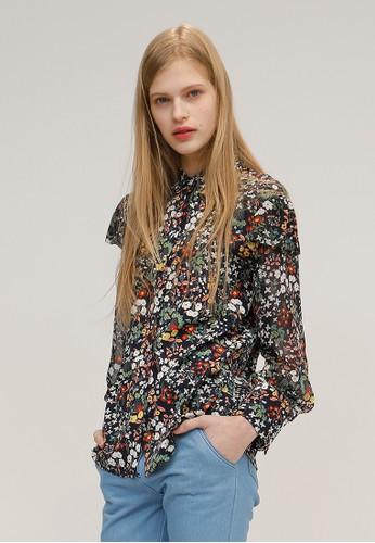 印花圖案淑女襯衫, 韓系時尚,esprit台灣門市 上衣