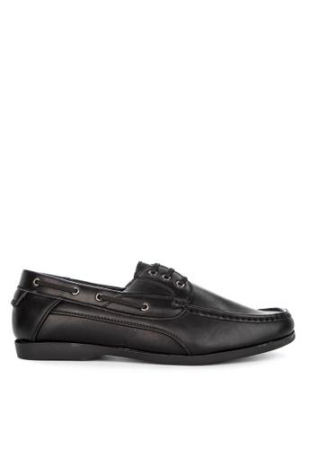 Italianos black Asthon Boat Shoes C1C38SH7F109B1GS_1