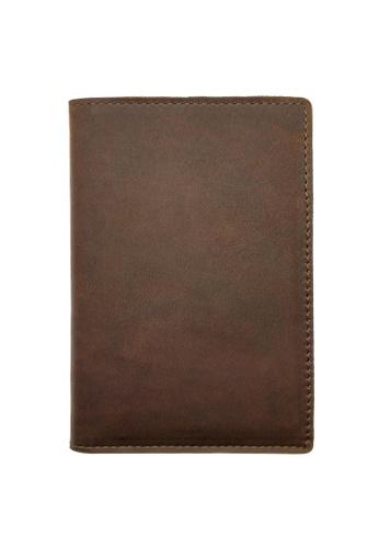 LUXORA brown The Ninja Co. Passport Wallet - Full Grain Leather Cowhide - Travel Card Holder Men Women Gift Brown D7398AC1499202GS_1