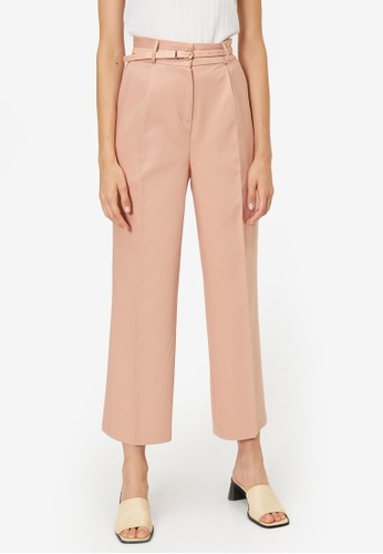 KOTON pink Casual Cropped Trousers BEA15AAD092189GS_1