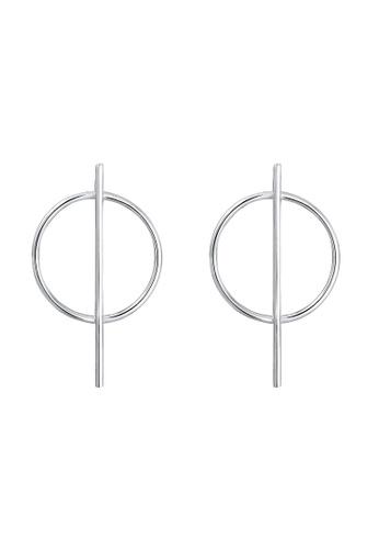 f9f6e653a Buy Elli Germany Elli Germany Earrings Circle Basic Geo Minimal 925 Sterling  Silver | ZALORA HK