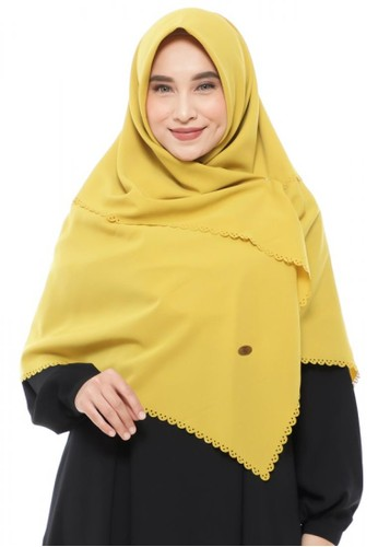First Hijab yellow Corrina Square Instant In Avocado FD128AAB82C302GS_1