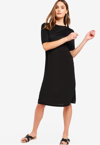 77153747120171 Buy ZALORA BASICS Basic Short Sleeves Midi Dress Online on ZALORA ...