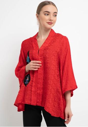 Batik First red Blouse Kebaya LINDA+Aplikasi BatikNeci 2A5ACAACE1B81CGS_1