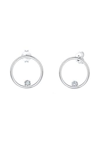 ELLI GERMANY silver Earrings Circle Crystals 87A84ACF60DD71GS_1