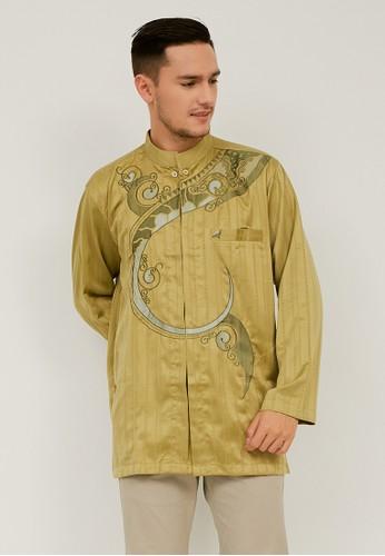 Woffi green Qushayr Koko Shirt 70093AA2843387GS_1