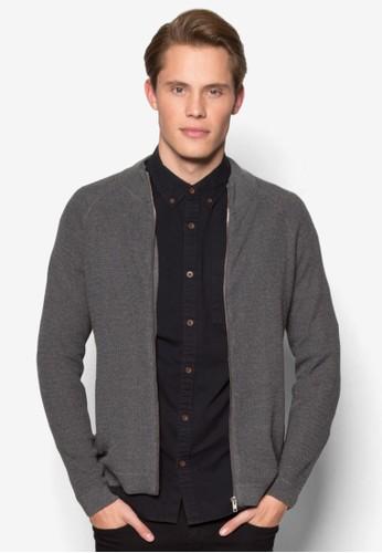 針esprit outlet 家樂福織暗紋長袖外套, 服飾, 服飾