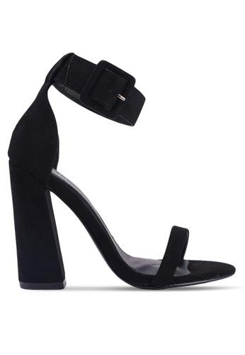 MISSGUIDED 黑色 人造麂皮粗跟鞋 06A46SHBC61552GS_1