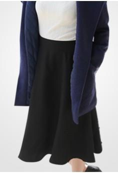 Modest Midi Flared Skirt
