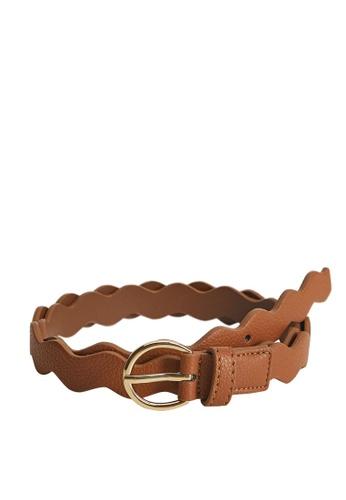 MANGO KIDS brown Scalloped Belt 3AD24KC92FCA91GS_1