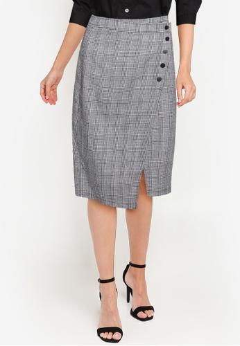 ZALORA WORK multi Asymmetric Wrap Skirt F3639AA1ED3C0DGS_1