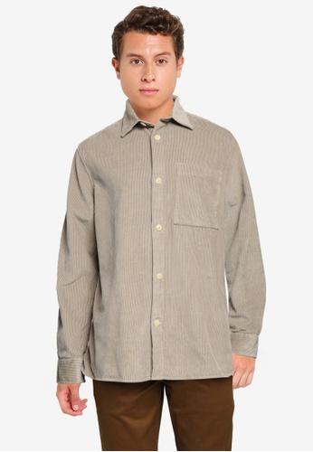 Banana Republic beige Organic Corduroy Shirt Jacket 056B2AA83E7115GS_1