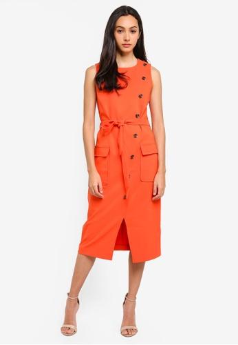 6cbf828d51f6f Buy WAREHOUSE Button Front Sleeveless Dress Online on ZALORA Singapore