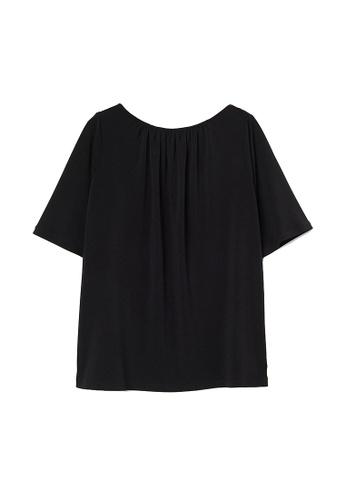 H&M black Jersey Top DB784AAAB3AEC5GS_1