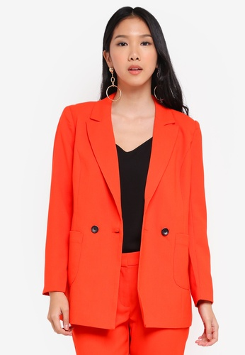 Y.A.S orange Yaspavati 7/8 Blazer A8439AA948CF12GS_1