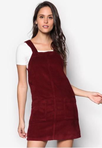 暗紋吊帶連身裙、 服飾、 服飾DorothyPerkins暗紋吊帶連身裙最新折價