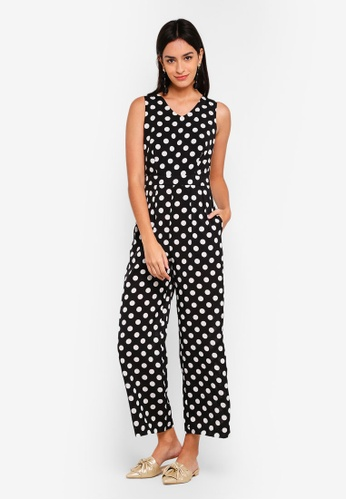 f0e92e257f1a Shop ZALORA Polka Dot Jumpsuit Online on ZALORA Philippines