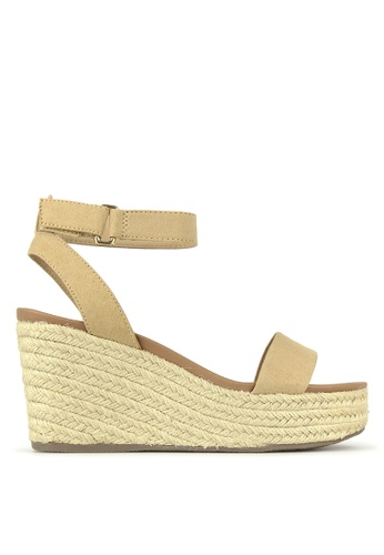 Betts beige Kayla Wedge Sandals 98F69SH5195654GS_1