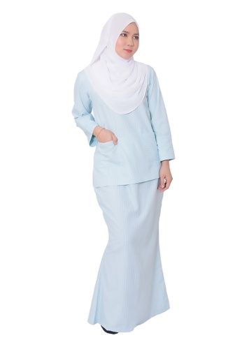 Baju Kurung Camelia from AALIA in Blue