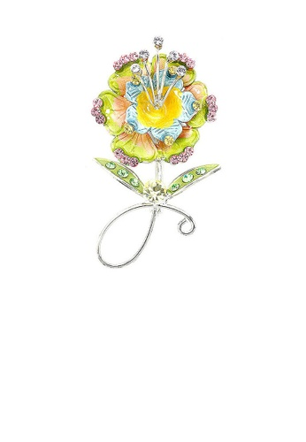 Glamorousky multi Flower Brooch with Multi-color Austrian Element Crystals B4A5EAC80D596DGS_1
