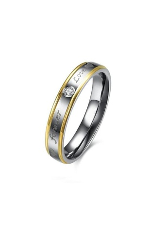 ADORA Stainless Steel Zircon Ring AD365AC25GZYHK_1