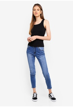 2363ca643cc 65% OFF Cotton On Mid Rise Grazer Skinny Jeans RM 135.00 NOW RM 46.90 Sizes  4 6 8 12
