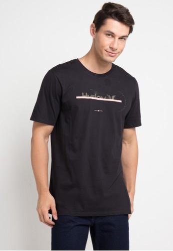 hurley black Exports T-Shirt 073F8AA69D8152GS_1