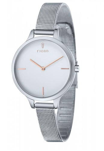 Fjord silver Fjord GYDA FJ-6027-22 Women's Stainless Steel Mesh Band Watch 5CEE0ACCCBE23DGS_1