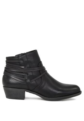 London Rag black Adele Stylish Black Zipper Ankle Boots SH1681 7FAF4SH5F9E06AGS_1