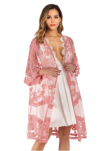 LYCKA pink LTH4100-European Style Beach Robe-Pink 39E50USD3CD1C8GS_1
