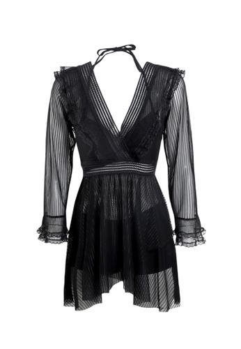 Its Me black (3PCS) Sexy Gauze Bikini Swimsuit 600C9USA8ED21EGS_1
