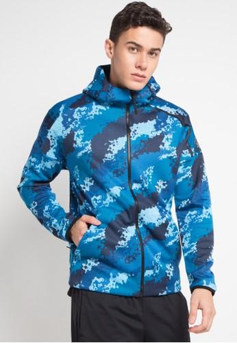 adidas blue and multi adidas z.n.e hoodie all-over-print 75083AAEECF3A3GS_1