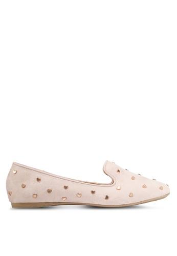 VINCCI beige Studded Loafers A4B12SH97E94A4GS_1