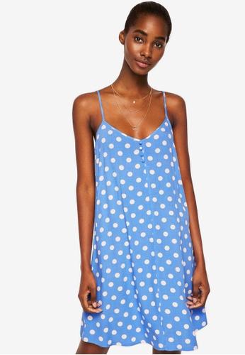 MANGO blue Strap Flowy Dress A69F6AA2062D36GS_1