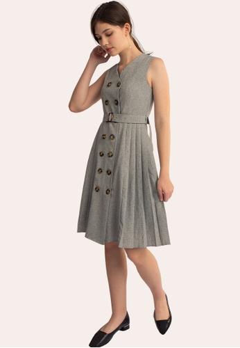 L'zzie grey LZZIE NAOMI DRESS - GREY CEC36AA9359AD1GS_1
