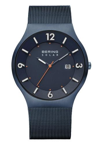 Bering blue Solar 14440-393 Blue 40 mm Men's Watch 121E1AC4BD12C6GS_1
