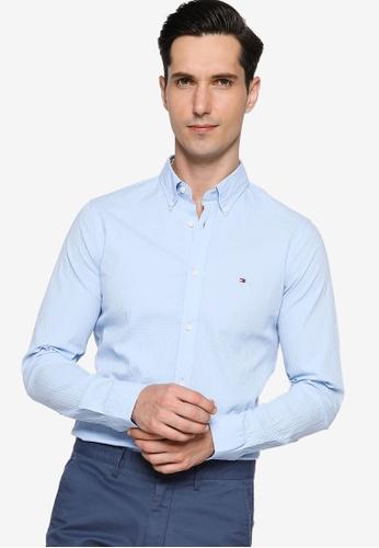 Tommy Hilfiger blue Slim Flex Seersucker Shirt 2846EAA3DCEDDDGS_1