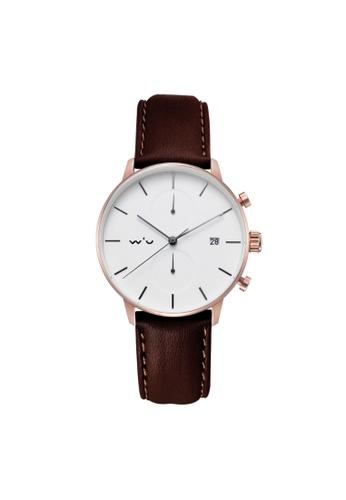 Aries Gold brown Aries Gold Venturer L 1034 RG-W Leather Watch CD251AC32F6B8DGS_1