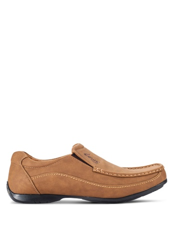Louis Cuppers brown Stitched Loafers LO977SH55RCEMY_1