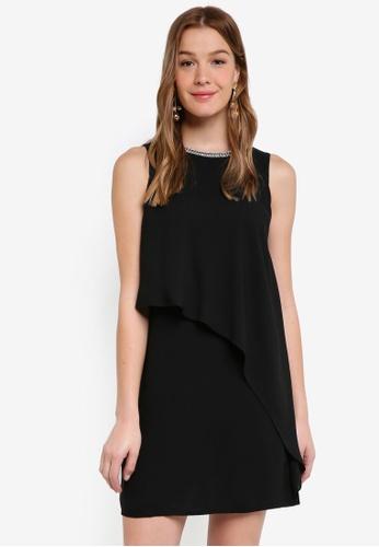 Dorothy Perkins black Black Ellie Embellished Shift Dress 37460AACC08637GS_1